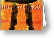 Brushes Digital Art Greeting Cards - PI on canvas Greeting Card by Andrea Barbieri