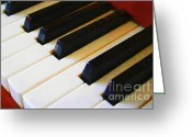 Classical Music Art Greeting Cards - Piano Keys . v2 Greeting Card by Wingsdomain Art and Photography