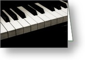 Steinway  Greeting Cards - Piano Keys Coffee Tone Greeting Card by Andee Photography