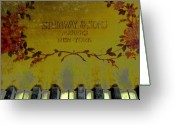 Steinway  Greeting Cards - Piano Keys of the Golden Age Greeting Card by Colleen Kammerer