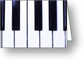 Big Band Greeting Cards - Piano Keys Greeting Card by Wingsdomain Art and Photography