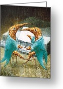 Fantasy Creatures Painting Greeting Cards - Piano lessons Greeting Card by Lolita Bronzini