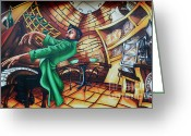 Face. Colorful Greeting Cards - Piano Man Greeting Card by Bob Christopher