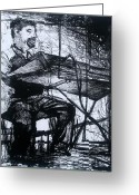 Play Drawings Greeting Cards - Piano Playin Greeting Card by Molly Markow