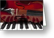Pianos Greeting Cards - Piano reflections Greeting Card by Garry Gay