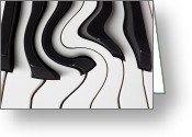 Color Bending Greeting Cards - Piano Surrealism  Greeting Card by Garry Gay
