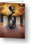 Staircase Greeting Cards - Piano Uno Greeting Card by John Galbo