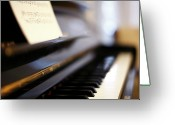 Note Greeting Cards - Piano With Blur Greeting Card by Photo by Giuseppe Amato