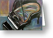 High Heel Greeting Cards - Piano with High Heel Greeting Card by Anita Burgermeister