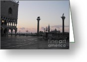 Quay Greeting Cards - Piazetta. Venice Greeting Card by Bernard Jaubert