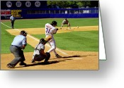 Shea Stadium Photo Greeting Cards - Piazza 98 Greeting Card by Steven Sachs