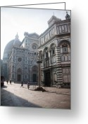 Italia Greeting Cards - Piazza San Giovanni in the Morning Greeting Card by Steven Gray