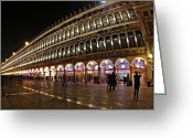 St Marc Greeting Cards - Piazza San Marco - Venise Greeting Card by Cedric Darrigrand