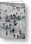 St Marc Greeting Cards - Piazza San Marco Greeting Card by Bernard Jaubert
