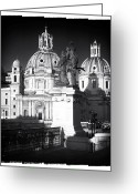 Sculptures For Sale Photo Greeting Cards - Piazza Shadows Greeting Card by John Rizzuto