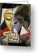Varvara Stylidou Greeting Cards - Picasso by Varvara Greeting Card by Varvara Stylidou