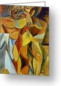 Cubist Greeting Cards - Picasso: Friendship, 1907 Greeting Card by Granger