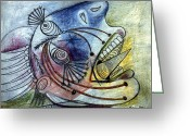 Picasso Greeting Cards - Picasso: Guernica Greeting Card by Granger