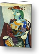 Cubist Greeting Cards - Picasso: Marie-therese Greeting Card by Granger