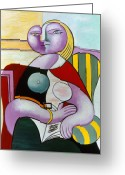 Picasso Greeting Cards - Picasso: Reading, 1932 Greeting Card by Granger