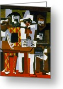 Player Greeting Cards - Picasso: Three Musicians Greeting Card by Granger
