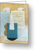 Cubist Greeting Cards - Picasso: Violin, 1912 Greeting Card by Granger