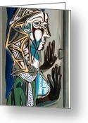 Varvara Stylidou Greeting Cards - Picasso4 by Varvara  Greeting Card by Varvara Stylidou