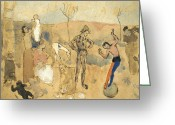 Entertainer Greeting Cards - Picasso:circus Family,1905 Greeting Card by Granger
