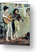 Youths Greeting Cards - Piccoli  Saltimbanchi  Suonatori Greeting Card by Pg Reproductions