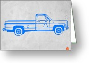 Kids Greeting Cards - Pick up Truck Greeting Card by Irina  March
