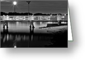 Bayview Greeting Cards - Picketted Jetty Greeting Card by Mark Lucey