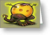 Sport Greeting Cards - Pickleball Beast Greeting Card by Kevin Middleton