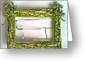 Music Sculpture Greeting Cards - Picture Frame Greeting Card by Oscar Nyathi