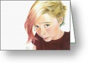Young Pastels Greeting Cards - Picture Me This Greeting Card by Tess Lee miller