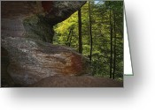 Red Greeting Cards - Picture Window View Greeting Card by Richard Gregurich