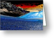 Surreal Landscape Greeting Cards - Pictures from Venus Greeting Card by Rebecca Margraf