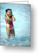 Kid Photo Greeting Cards - Pictures of the Summer Greeting Card by Gwyn Newcombe