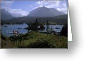 Bays Greeting Cards - Picturesque Landscape Of Halibut Cove Greeting Card by Stacy Gold