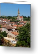 Village Church Greeting Cards - Picturesque Nerac France Greeting Card by Marion McCristall