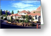 Fence Gate Greeting Cards - Picturesque Utah Greeting Card by Will Borden