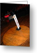Hall Greeting Cards - Piece of the original old stage at the Grand Ole Opry in Nashville Greeting Card by Susanne Van Hulst