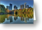Photographers Ellipse Greeting Cards - Piedmont Park Atlanta City View Greeting Card by Corky Willis Atlanta Photography