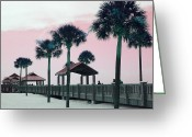 White Sand Greeting Cards - Pier 60 Greeting Card by Georgia Fowler