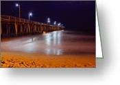 Time Framed Prints Photo Greeting Cards - Pier  Greeting Card by Christopher  Ward 