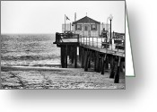 Club Greeting Cards - Pier in Winter Greeting Card by John Rizzuto