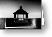 Beautiful Image Greeting Cards - Pier Panoramic Greeting Card by Pixel Perfect by Michael Moore