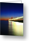 Beach Photographs Greeting Cards - Pier reflection Greeting Card by Robert Pearson