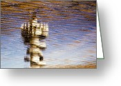 Beach Prints Greeting Cards - Pier Tower Greeting Card by David Bowman