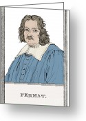 Curved Lines Greeting Cards - Pierre De Fermat, French Mathematician Greeting Card by Science Source