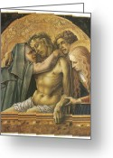 Pieta Painting Greeting Cards - Pieta Greeting Card by Carlo Crivelli